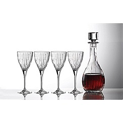 Royal Doulton - Crystalline 'Linear' decanter and wine glass set