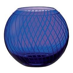 Royal Doulton - Small Round Vase 13cm Blue