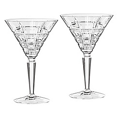 Marquis by Waterford - Crosby Barware set of 2 martini glasses