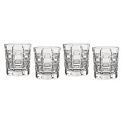 Marquis by Waterford - Crosby Barware set of 4 tumbler glasses