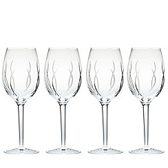John Rocha at Waterford Crystal - Waterford 'Weft' set of 4 goblet glasses