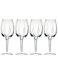 John Rocha at Waterford Crystal - Waterford 'Weft' set of 4 wine glasses