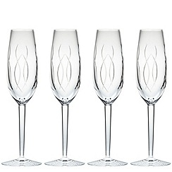 John Rocha at Waterford Crystal - Waterford 'Weft' set of 4 champagne flutes
