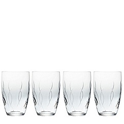 John Rocha at Waterford Crystal - Waterford 'Weft' set of 4 tumbler glasses