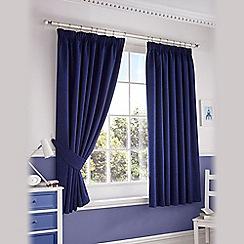 Ashley Wilde - Navy 'Darwin' Pencil Pleat Curtains