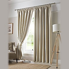 Ashley Wilde - Linen 'Darwin' Pencil Pleat Curtains