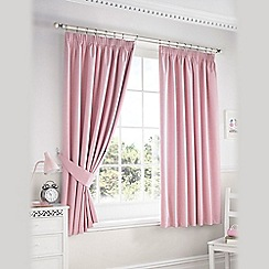 Ashley Wilde - Pink 'Darwin' Pencil Pleat Curtains
