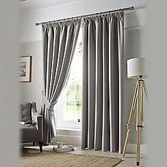 Ashley Wilde - Grey 'Darwin' Pencil Pleat Curtains