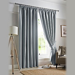 Ashley Wilde - Sky 'Darwin' Pencil Pleat Curtains