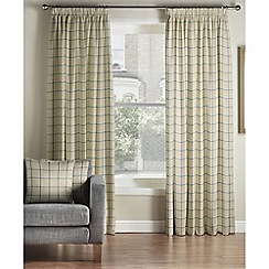 Montgomery - Navy 'Burchill' Lined Pencil Pleat Curtains
