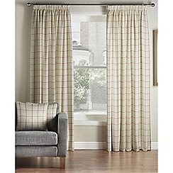 Montgomery - Red 'Burchill' Lined Pencil Pleat Curtains
