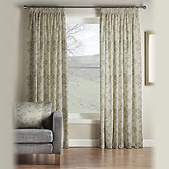 Montgomery - Pewter 'Velddrif' Fully Lined Pencil Pleat Curtains