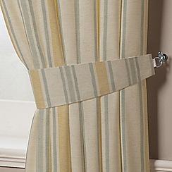 Montgomery - Mustard & Grey 'Hove Stripe' Curtain Tiebacks