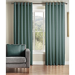 Montgomery - Teal 'Addo' Fully Lined Eyelet Curtains