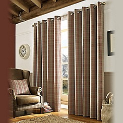 Ashley Wilde - Red 'Archie' Fully Lined Eyelet Curtain