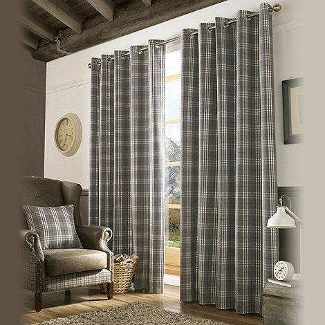 Ashley Wilde Slate Archie Fully Lined Eyelet Curtain