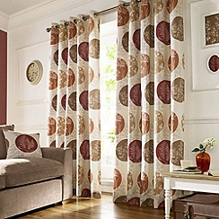 Ashley Wilde - Terracotta 'Brightwood' fully lined eyelet curtain