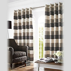 Ashley Wilde - Mocha 'Bromley' Fully Lined Eyelet Curtain