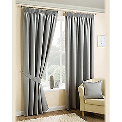 Joshua Thomas - Silver 'Ariel' Fully Lined Pencil Pleat Curtains