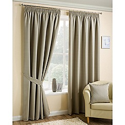 Joshua Thomas - Taupe 'Ariel' Fully Lined Pencil Pleat Curtains