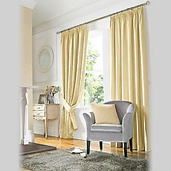 Ashley Wilde - Natural 'Madison' Fully Lined Pencil Pleat Curtain