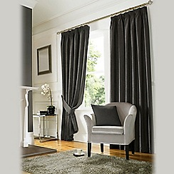 Ashley Wilde - Grey 'Madison' Fully Lined Pencil Pleat Curtain