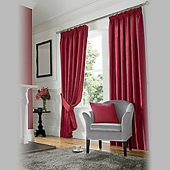Ashley Wilde - Wine 'Madison' Fully Lined Pencil Pleat Curtain