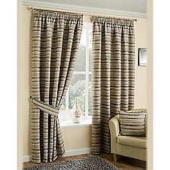 Joshua Thomas - Silver 'Chicago' Fully Lined Pencil Pleat Curtains
