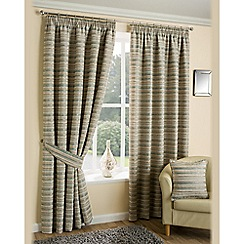 Joshua Thomas - Aqua 'Chicago' Fully Lined Pencil Pleat Curtains