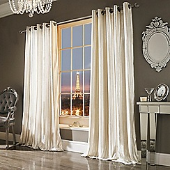 Ashley Wilde - Oyster 'Iliana' Fully Lined Eyelet Curtain