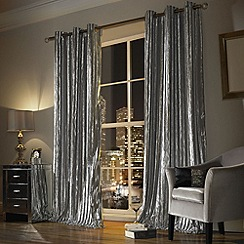 Ashley Wilde - Silver 'Iliana' fully lined Eyelet curtain