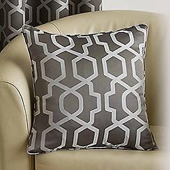 Joshua Thomas - Pewter 'Oregon' Cushion Cover