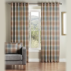 Montgomery - Blue 'Kirkwall' Fully Lined Eyelet Curtains
