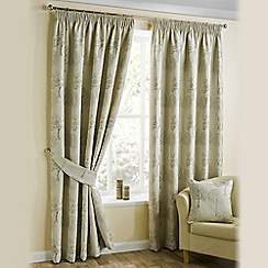Joshua Thomas - Natural 'Arden' Pencil Pleat Curtains
