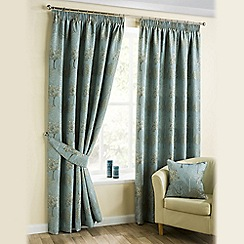 Joshua Thomas - Duck Egg 'Arden' Pencil Pleat Curtains