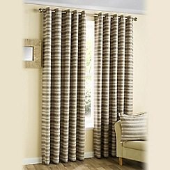 Joshua Thomas - Beige 'Horizon' Eyelet Curtains