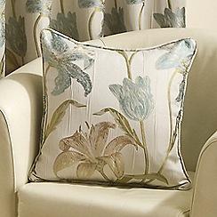 Joshua Thomas - Aqua 'Lilly' Cushion Cover
