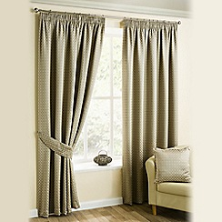 Joshua Thomas - Natural 'Marrakech' Pencil Pleat Curtains