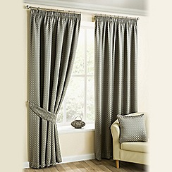 Joshua Thomas - Pewter 'Marrakech' Pencil Pleat Curtains