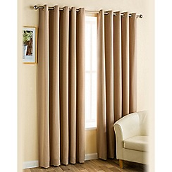 Joshua Thomas - Stone 'Urban' Fully Lined Eyelet Curtains