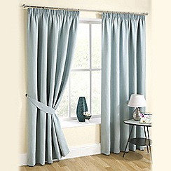 Joshua Thomas - Duck Egg 'Urban' Pencil Pleat Curtains