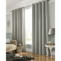 Ashley Wilde - Duck Egg Blue 'Downton' Eyelet Heading Curtains