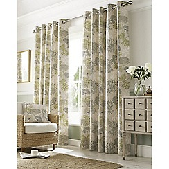 Ashley Wilde - Green 'Elderberry' Eyelet Heading Curtains