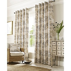 Ashley Wilde - Natural 'Elderberry' Eyelet Heading Curtains