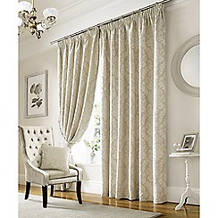 Ashley Wilde - Ivory 'Lille' Pencil Pleat Curtains