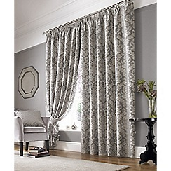 Ashley Wilde - Silver 'Lille' Pencil Pleat Curtains