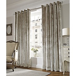 Ashley Wilde - Champagne 'Lux' Eyelet Heading Curtains