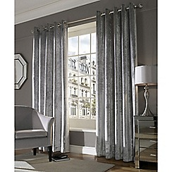 Ashley Wilde - Silver 'Lux' Eyelet Heading Curtains