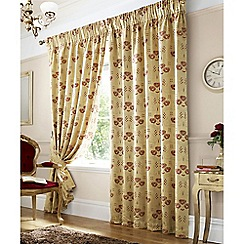 Ashley Wilde - Gold 'Rennie' Pencil Pleat Curtains
