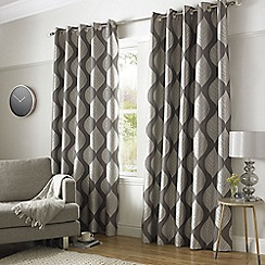Ashley Wilde - Silver 'Simone' Eyelet Heading Curtains